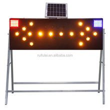 Traffic warning electric LED arrow sign board for road safety