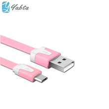 2018 New products For Mobile phone Pink Printing Micro USB cable