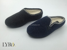 2016 wholesale ladies flat slipper felt upper injected lady indoor slipper