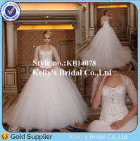 arab dubai luxury heavy diamond beading 3/4 long sleeves fluffy ball gown cathedral train wedding dresses