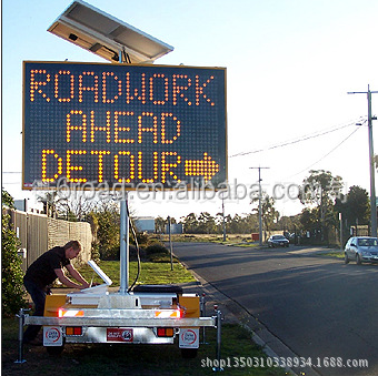 Trailer Traffic Portable Variable Message Sign