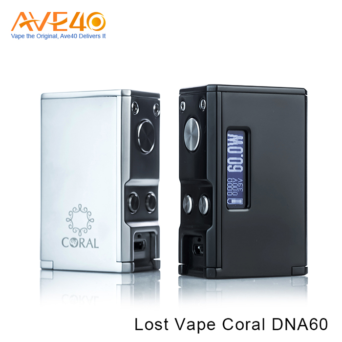 Ave 40 wholesale LOST VAPE CORAL DNA 60 BOX MOD Squonk Box Mod Bottom Feeder