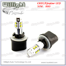 car led fog lamp,880 881 c-r-e-e 50w car led fog lamp