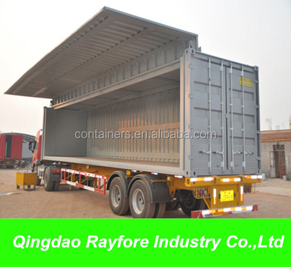 Customized 20ft 40ft flying side open container Rayfore container