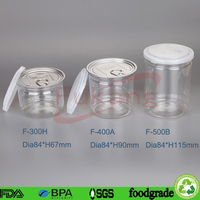 400ml Clear PET Plastic Container can for sweets cookie honey bottle china making factory
