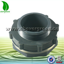 Heavy duty 2inch PVC plastic bulkhead fitting for Aquarium