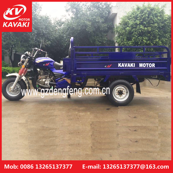 Guangdong kavaki motor street vendor tricycle/ motorized cargo tricycle