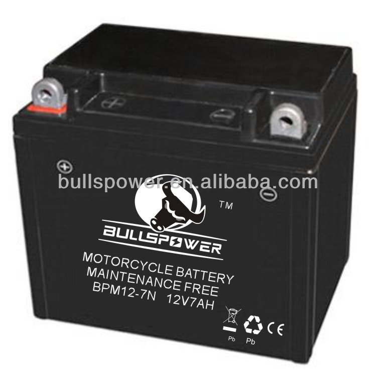 12v 7ah long life starting motorcycle battery ytx7a-bs