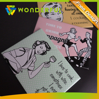 OEM Accepted High Quality Eco-friendly Customized Cheap Promotion Gift Multi-Color Paper Sticker Fridge Magnet