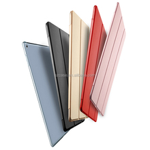 Fashion candy color flip stand smart PU leather PC back cover case for 2017 New Ipad 9.7 air 3