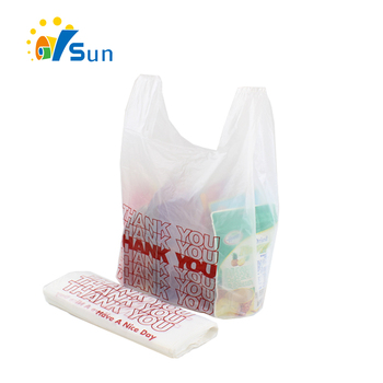 Cheap Price Custom Printed Promotion T-shirt Thank You Plastic Bag