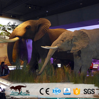 Simulation life size elephant sculpture
