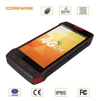 4G LTE Android Rugged Smartphone with 5 inch Screen NFC / IC Card reader Barcode Scanner with SIM PASM Slot