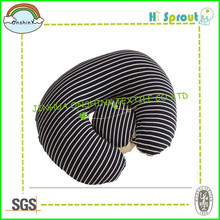 Inflatable Body Waist Pillow for Breastfeeding Black Stripe
