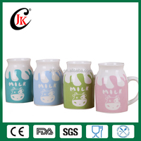 Alibaba China funny souvenir gift custom tea cup mug colorful ceramic milk cup cow drinking milka cup for kids
