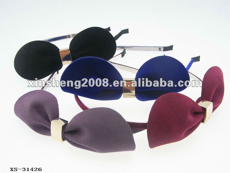high quality delicate bow headband hair band alice band
