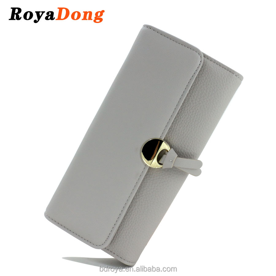 Royadong 2017 New Korean Style Fashion Simple Leisure 3-Fold Pu Leather Women <strong>Wallet</strong>