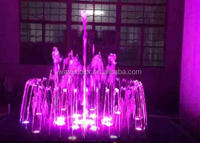 Trade Assurance Mini Water Fountain with led lights for decoration in the pool