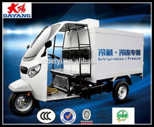 Gasoline 200cc Water Cooled Cold Room Cargo Tricycle In Sudan