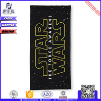 disposable sublimation print custom terry cloth beach towel