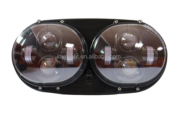 new Motorcycle Double Headlight 7inch round led headlight for harley motorcycle