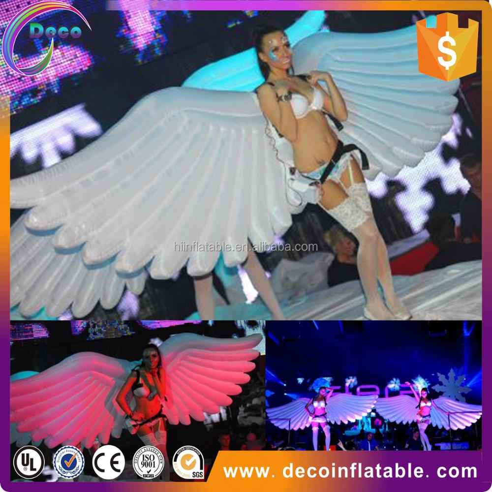 Stage decoration inflatable giant butterfly wing costume with low price for event