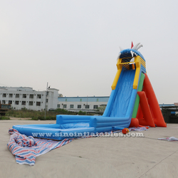 11m high giant hippo inflatable water slide for adults outdoor inflatable water park entertainment