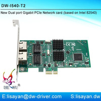 New arrival 1000M Intel 82540 dual port PCI express X1 network card