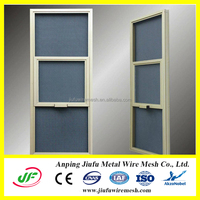 Aluminum Frame Rolling burglarproof Screen Window ISO9001:2008