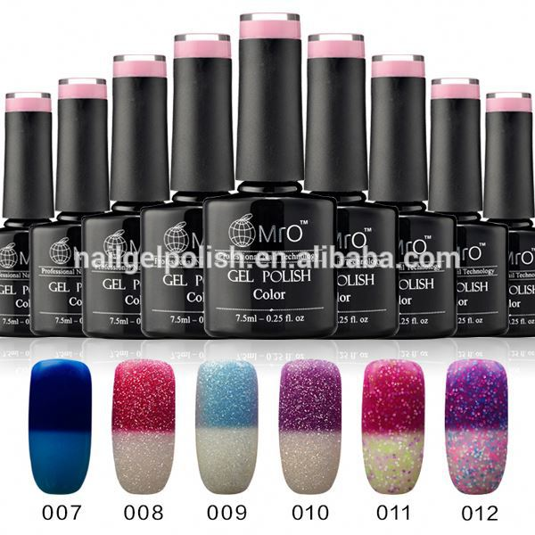 beauty and cared salon cheap wholesale nail polish color changed in LED UV gel