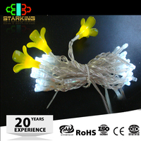 CE/ROHS outdoor artificial flower with led string light
