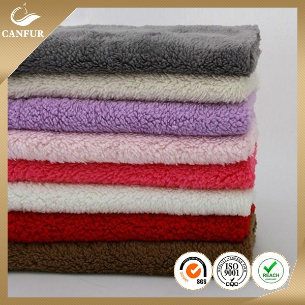 China factory wholesale 100% polyester plush toy fabric/micro sherpa