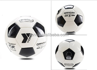 Hot Sale Football Cheap Soccer Ball With Different Size PU white/black EI futbol