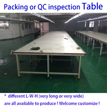 Large Woodworking Bench for inspection and packing