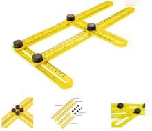 Mechanism Slides Multipurpose Folding Ruler Angle-izer Four-Sided Ruler Mechanism Slide Template Tool
