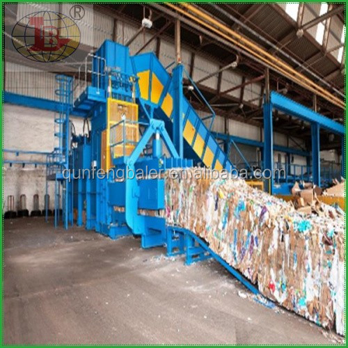 Automatic hydraulic compress baler,waste paper baler machine best QUALITY!!!