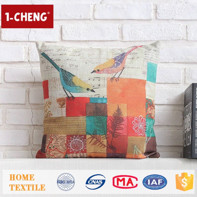 New Design Creative Cooling Colored Design Cushion Home Decor Pillow Case,Applique Work Cushion Cover