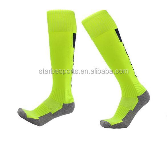 Men's Football Cotton Socks Knee high Soccer Socks with Terry