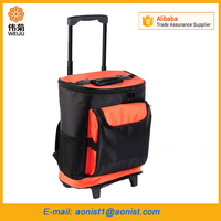 Extra-large Trolley thermal cooler bag family picnic outdoor car refrigerator backpack insulated