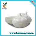 White garlic design plastic food case with low price