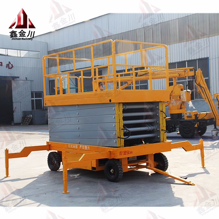 10m movable scissor lift table/hydraulic four wheels mobile scissor lifts