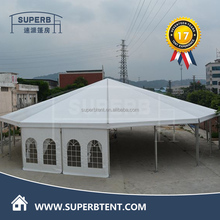 Outside round octagonal wedding party canopy tents for party