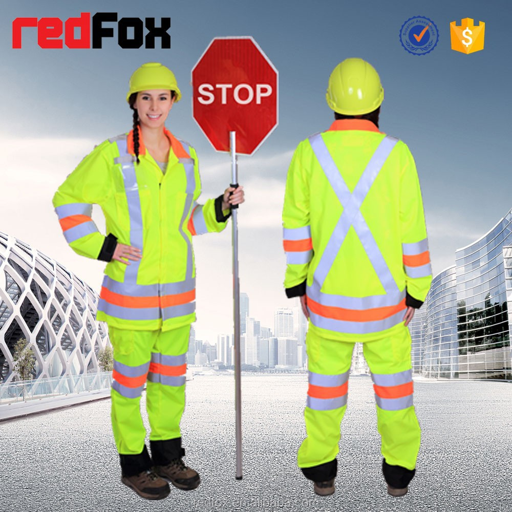 with 3m reflective tape and reflective materials wholesale safety factory wholesale work clothes