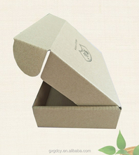 Brown color custom LOGO printed corrugated paper recycled brown paper box
