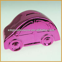 hotsale new design car shape ceramic coin bank money box