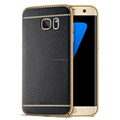 Luxury Plating TPU Cover Litchi Grain Phone Cases For Samsung Galaxy S6 S7 edge s8 S8 Plus Note 3 4 5 Note 8