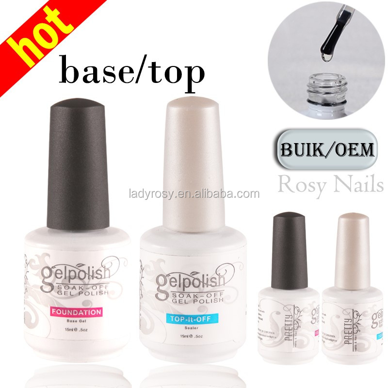 Professional Superior Ladies UV Nail Polish Base and Top Coat