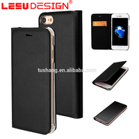 Hot selling luxury mobile phone card holder wallet leather case for iphone 7 7 plus