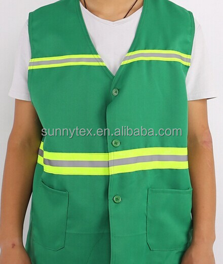bodywarmer with reflective tape vest men work wear vest
