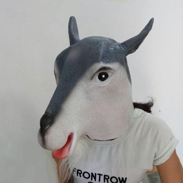 Halloween Animal Costume 3D Masquerade Fancy Dress cute goat mask